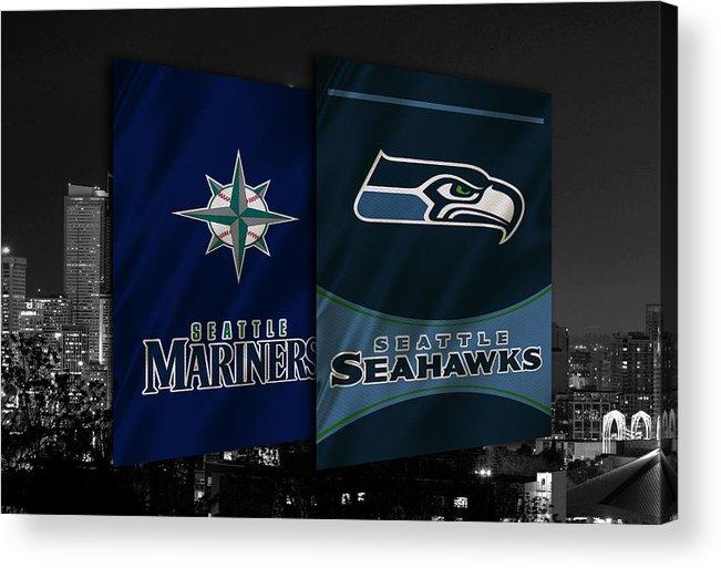 Seahawks Acrylic Print featuring the photograph Seattle Sports Teams by Joe Hamilton