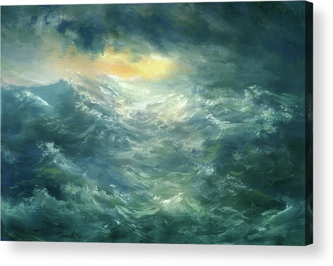 Scenics Acrylic Print featuring the digital art Storm Is Coming by Pobytov