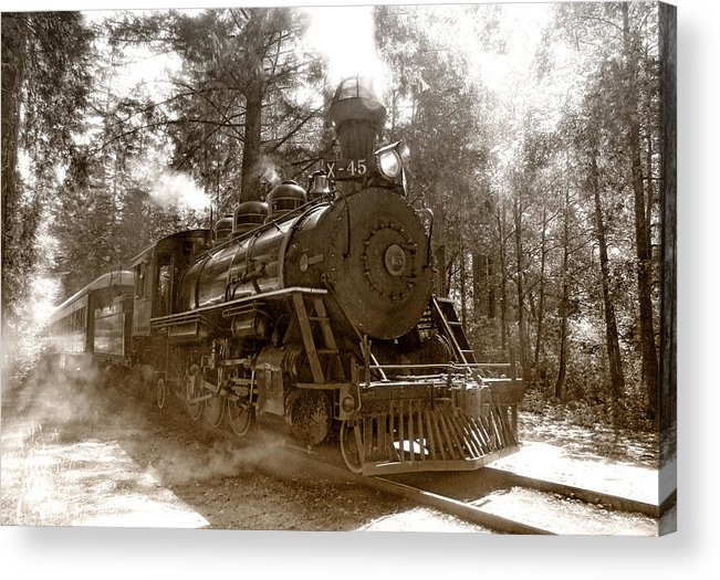 Locomotive Acrylic Print featuring the photograph Time Traveler by Donna Blackhall
