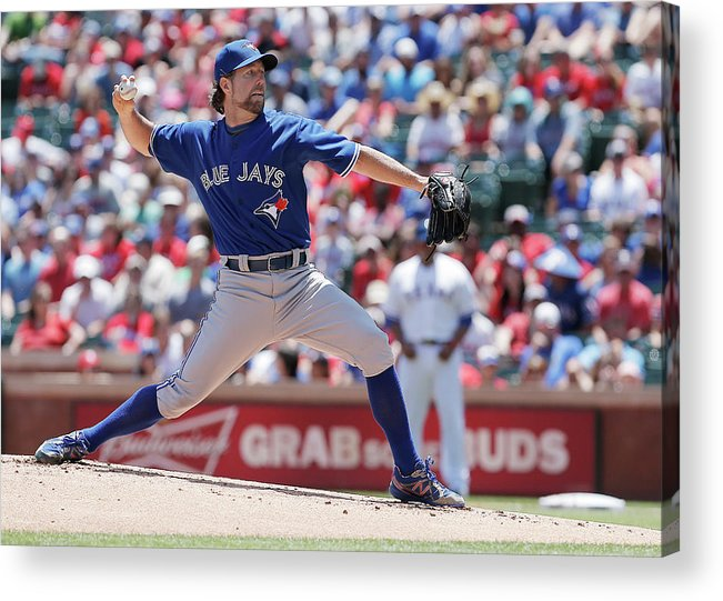 American League Baseball Acrylic Print featuring the photograph Toronto Blue Jays V Texas Rangers by Brandon Wade
