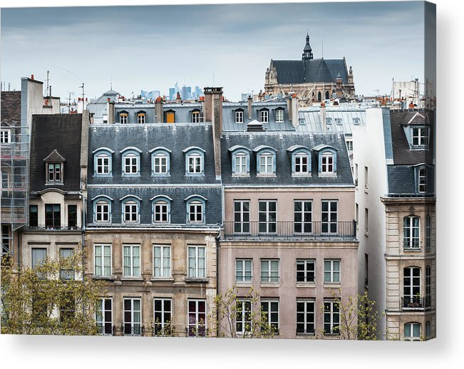 Built Structure Acrylic Print featuring the photograph Traditional Buildings In Paris by Mmac72