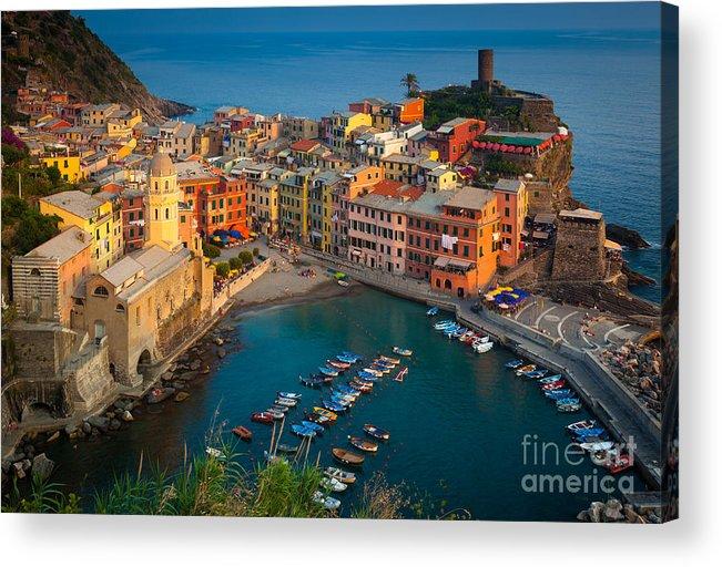 Cinque Terre Acrylic Print featuring the photograph Vernazza Pomeriggio by Inge Johnsson