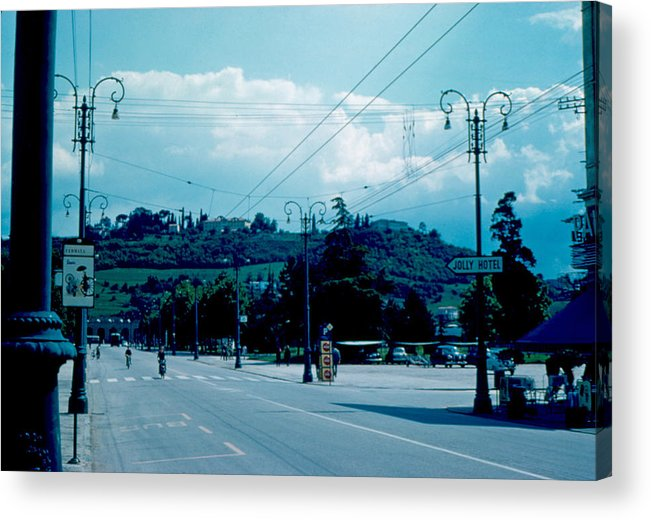 Vicenza Acrylic Print featuring the photograph Vicenza Italy 5 1962 by Cumberland Warden
