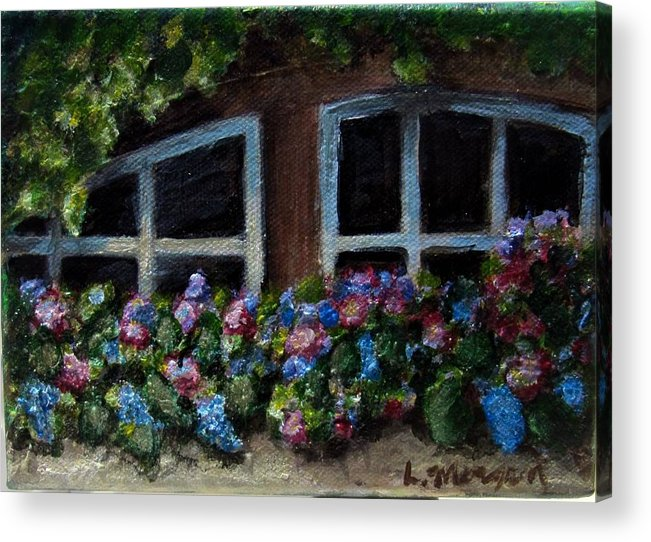 Window Box Acrylic Print featuring the painting Window Box Wonder by Laurie Morgan