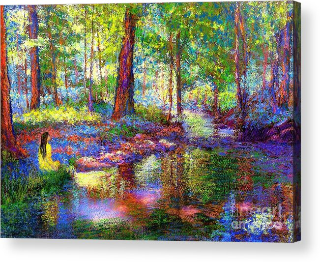 Forest Acrylic Print featuring the painting Woodland Rapture by Jane Small
