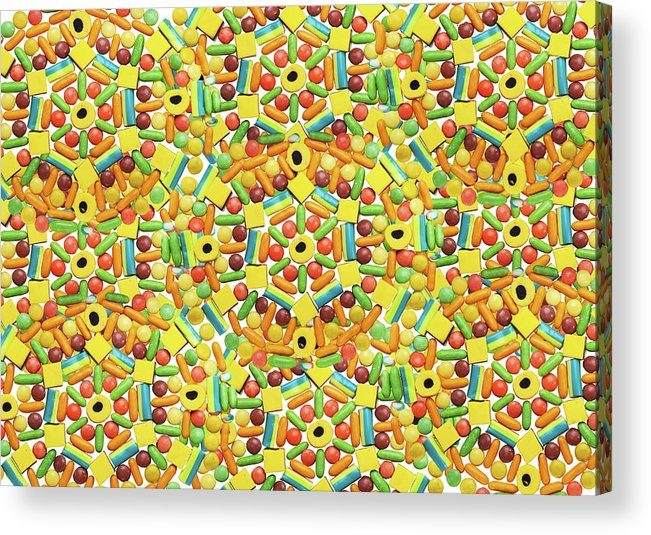 Temptation Acrylic Print featuring the photograph Yellow Abstract Pattern Made Out Of by Paper Boat Creative