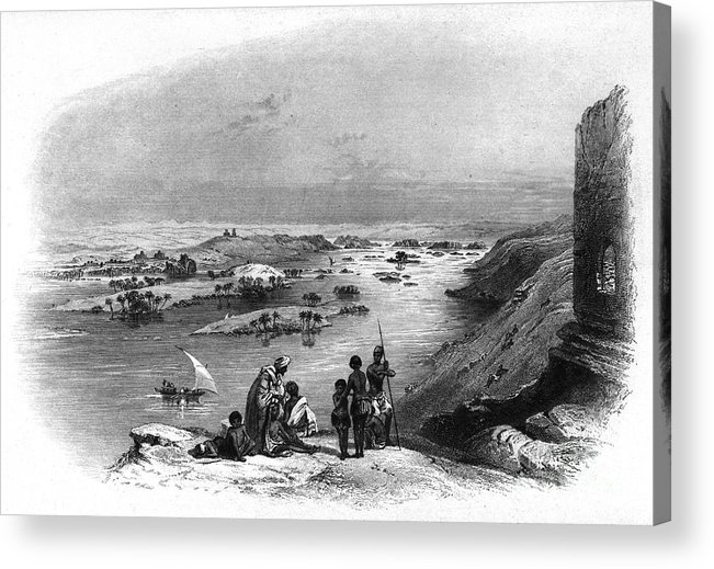 1849 Acrylic Print featuring the photograph Egypt: Nile Scene by Granger