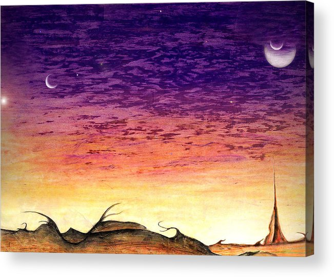 Jovian Acrylic Print featuring the drawing Landscrape by Nathaniel Hoffman