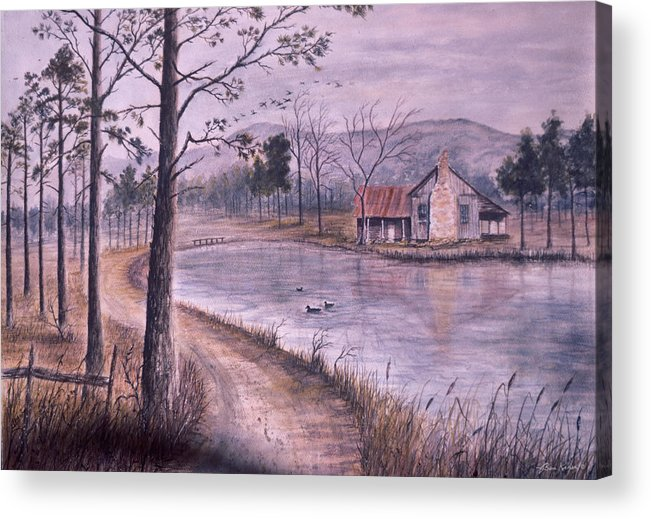 Morning Acrylic Print featuring the painting South Carolina Morning by Ben Kiger