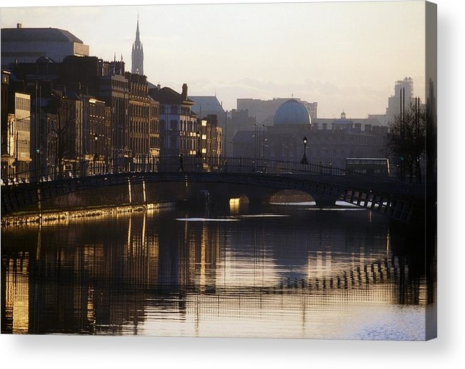 Back Lit Acrylic Print featuring the photograph River Liffey, Dublin, Co Dublin, Ireland by The Irish Image Collection