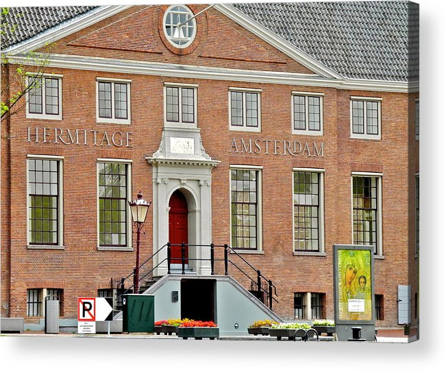 Amsterdam Acrylic Print featuring the photograph Hermitage Amsterdam Brick Building by Kirsten Giving