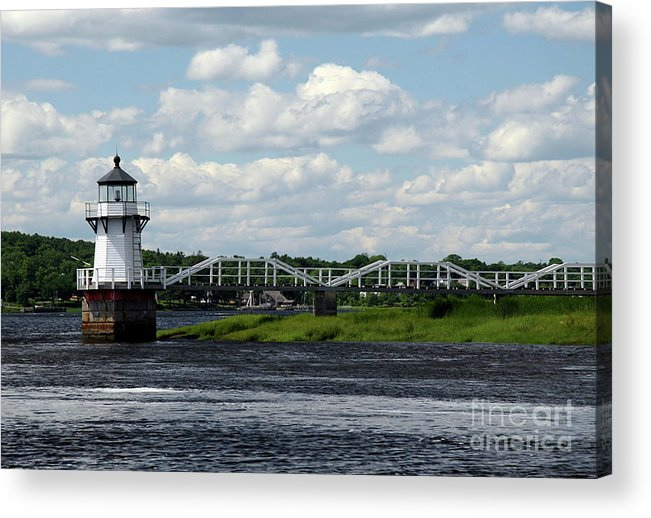 Doubling Point Light Acrylic Print featuring the photograph Lace Lighthouse by Brenda Giasson