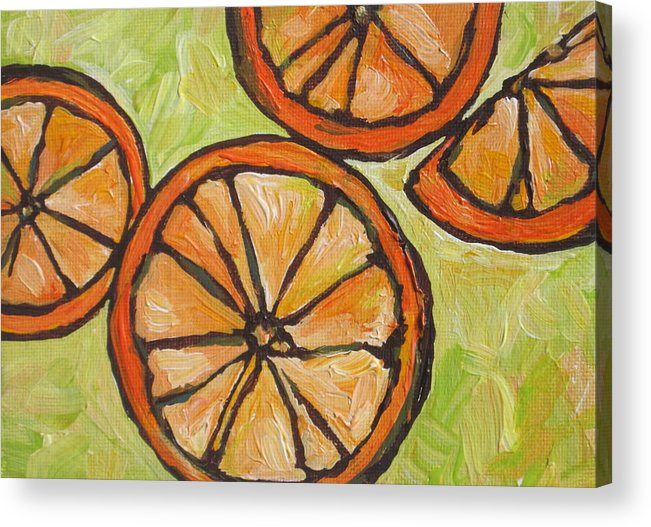 Fruit Acrylic Print featuring the painting My Vitamin C by Sandy Tracey