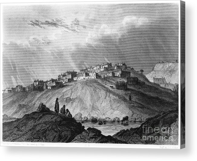 1854 Acrylic Print featuring the photograph New Mexico: Laguna Pueblo by Granger