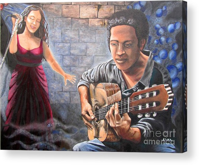 Jazz Acrylic Print featuring the painting Soul Music by Alima Newton