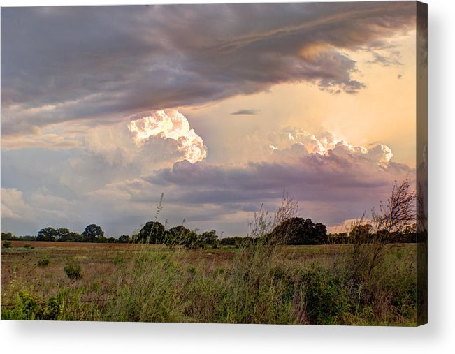 Clouds Acrylic Print featuring the photograph Thunderclouds by Beth Gates-Sully