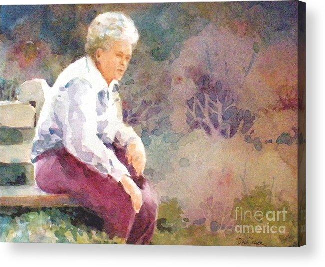 Garden Acrylic Print featuring the painting Garden Interlude by Faye Ziegler