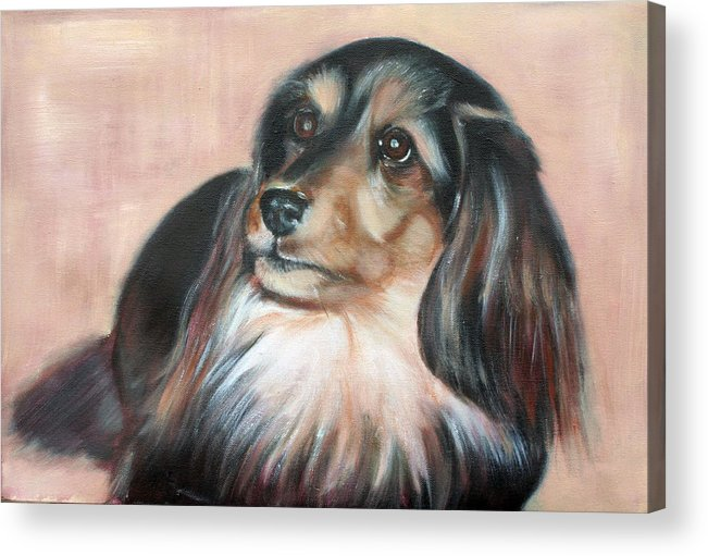 Acrylic Print featuring the painting Bonnie by Fiona Jack
