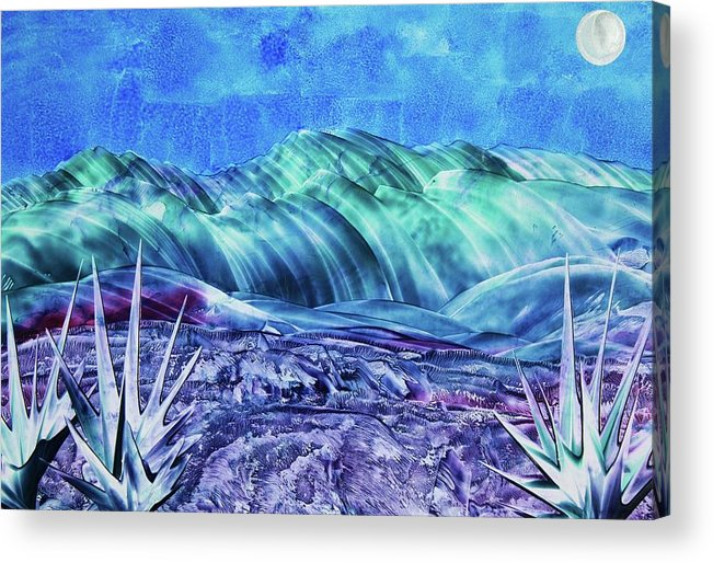 Encaustic Acrylic Print featuring the painting Gallup by Melinda Etzold