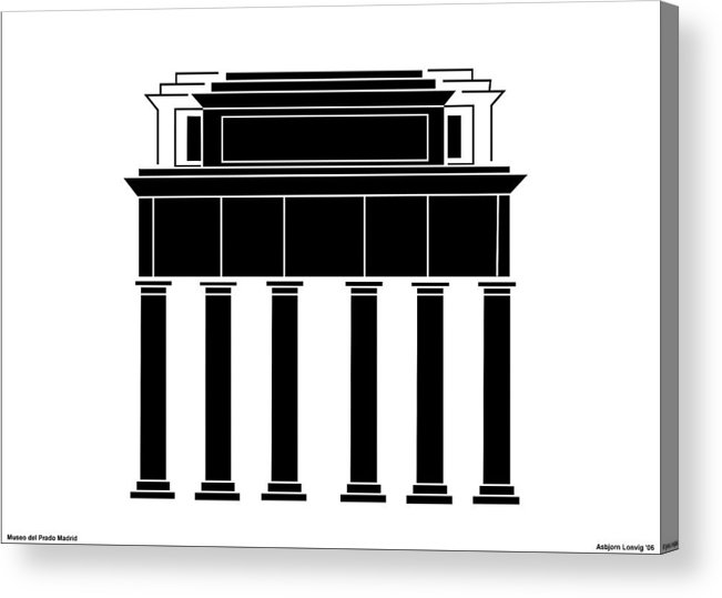 Museo Del Prado Acrylic Print featuring the digital art Museo Del Prado by Asbjorn Lonvig