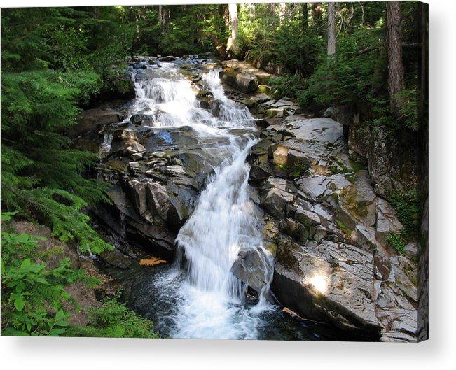 Waterfall Acrylic Print featuring the photograph Rainier Waterfall by Ty Nichols