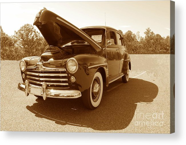 Ford Acrylic Print featuring the photograph 1947 Ford by Eric Liller