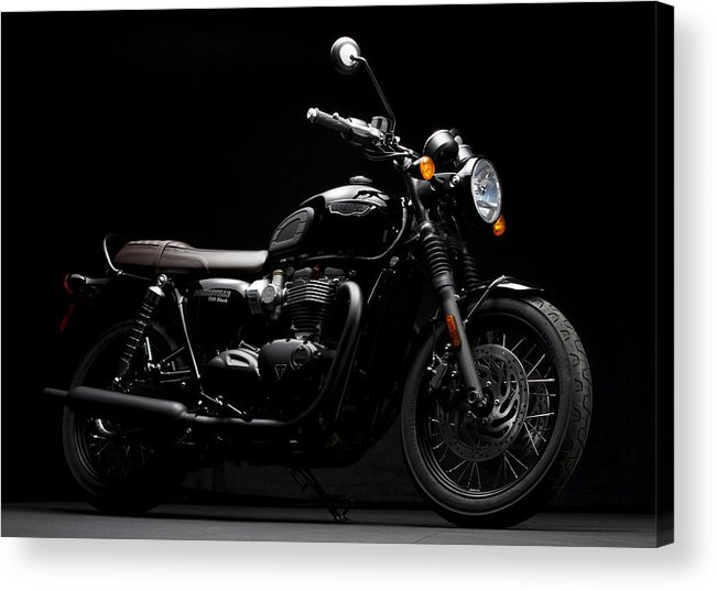 Triumph Acrylic Print featuring the photograph 2016 Triumph Bonneville T120 by Keith May