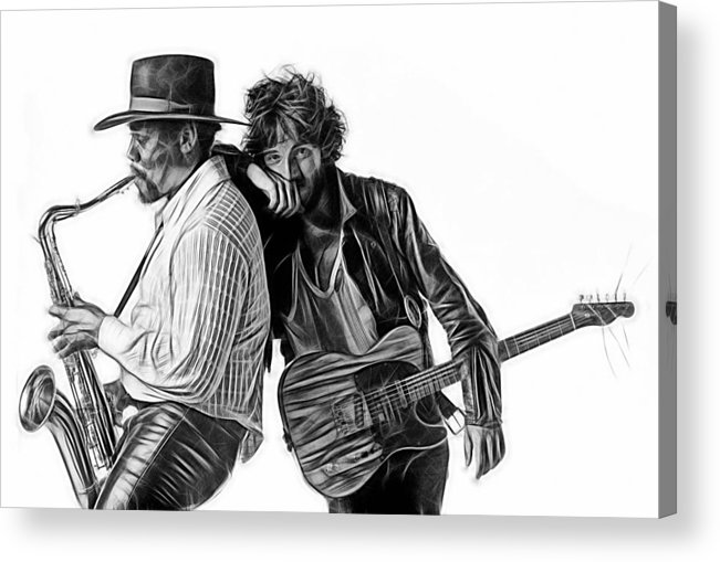 Bruce Springsteen Acrylic Print featuring the mixed media Bruce Springsteen Clarence Clemons Collection by Marvin Blaine