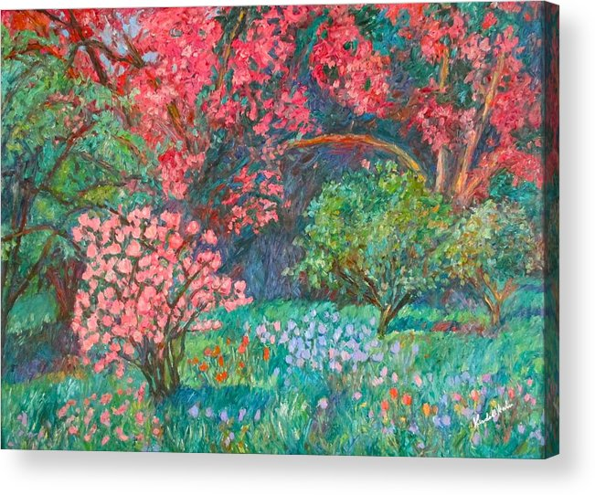 Landscape Acrylic Print featuring the painting A Memory by Kendall Kessler