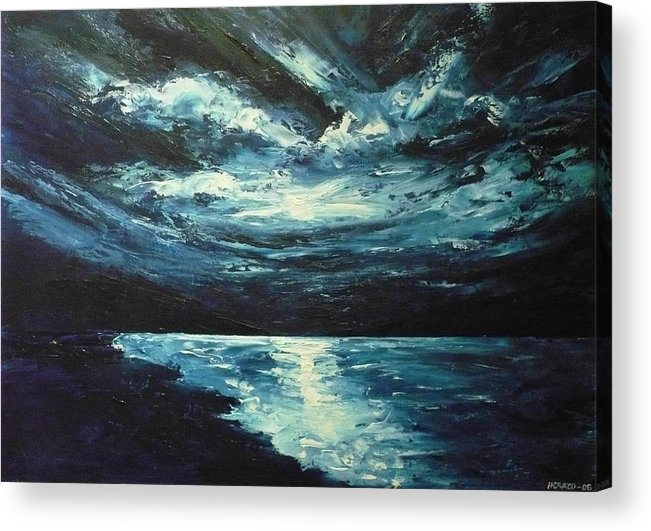 Landscape Acrylic Print featuring the painting A Milky Way by Ericka Herazo