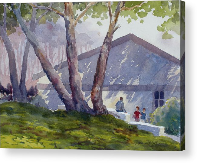 Landscape Acrylic Print featuring the painting Afternoon Shadows by Faye Ziegler