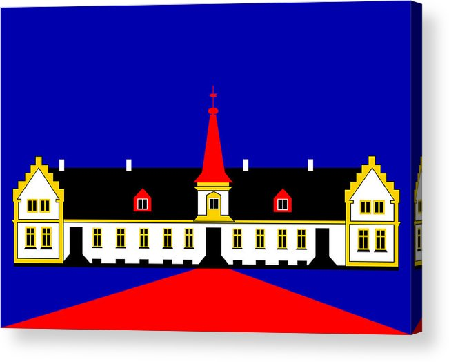 Manor House Acrylic Print featuring the digital art Agersboel Manor House by Asbjorn Lonvig