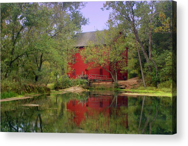 Alley Spring Acrylic Print featuring the photograph Allsy Sprng Mill 2 by Marty Koch