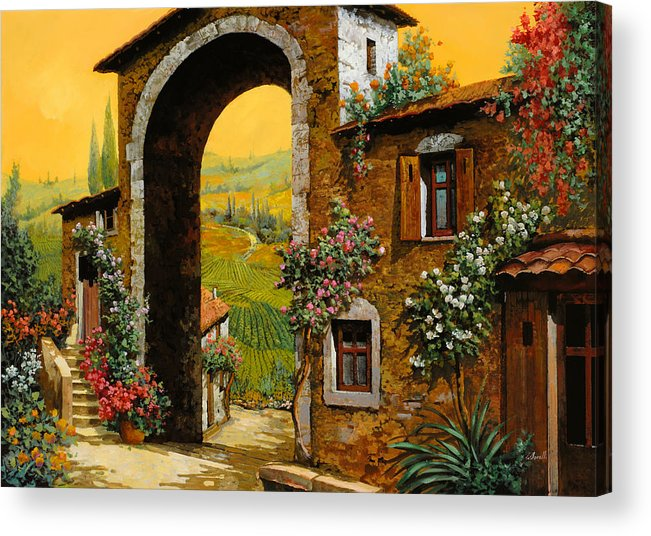 Arch Acrylic Print featuring the painting Arco Di Paese by Guido Borelli