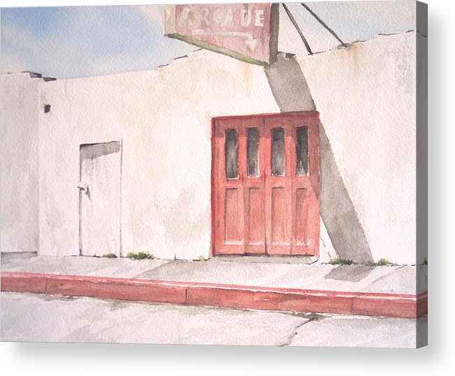 Urban Landscape Acrylic Print featuring the painting Balboa Fun Zone by Philip Fleischer