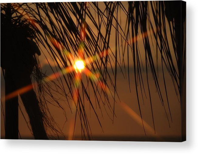 Landscape Acrylic Print featuring the photograph Beach sunset by Lisa Gabrius