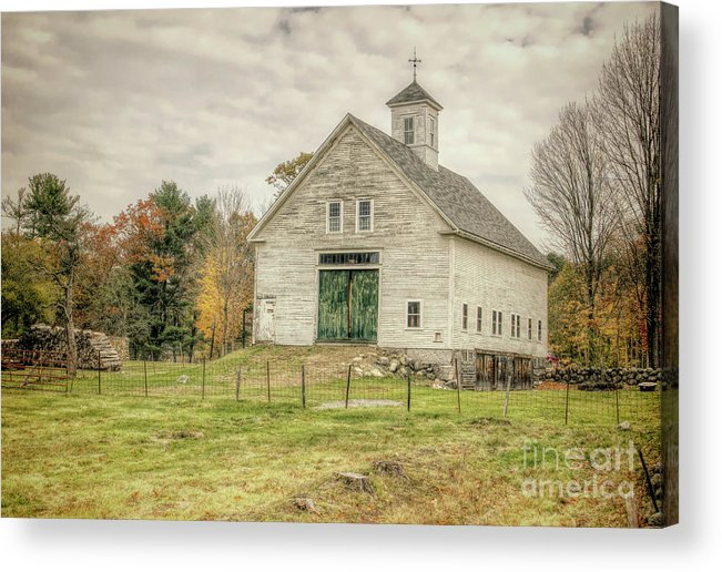 Old Barns Acrylic Print featuring the photograph Big White Barn by Diana Nault