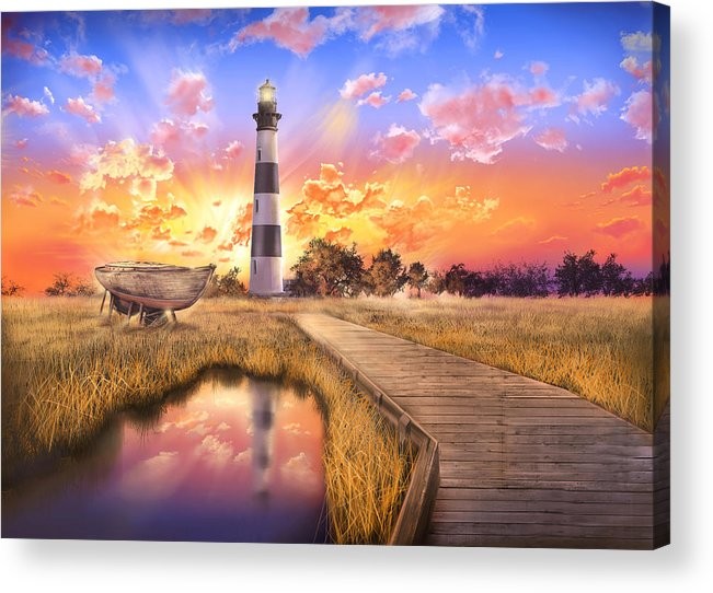 Lighthouse Acrylic Print featuring the photograph Bodie Island Lighthouse by Bekim M