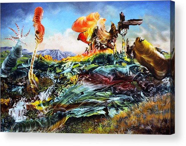 Landscape Acrylic Print featuring the painting Bogomil Landscape by Otto Rapp