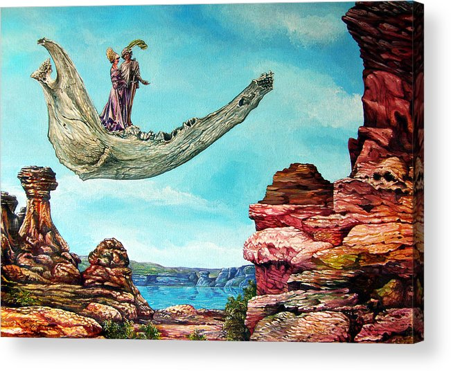 Painting Acrylic Print featuring the painting Bogomils Journey by Otto Rapp
