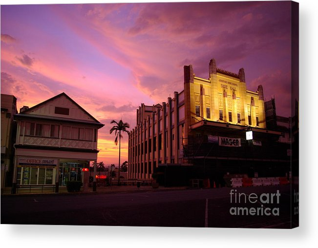 Evening Acrylic Print featuring the photograph Brewing Storm by Kerryn Madsen- Pietsch