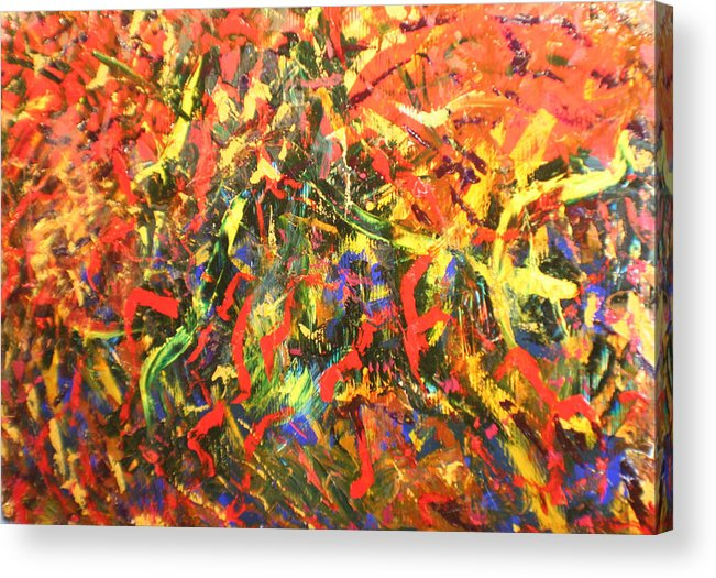 Color And Action Acrylic Print featuring the painting Cerrato by Biagio Civale