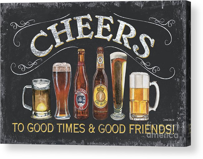 Cheers Acrylic Print featuring the painting Cheers by Debbie DeWitt