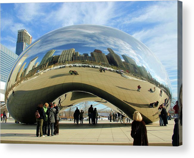 Chicago Acrylic Print featuring the photograph Chicago Reflected by Kristin Elmquist