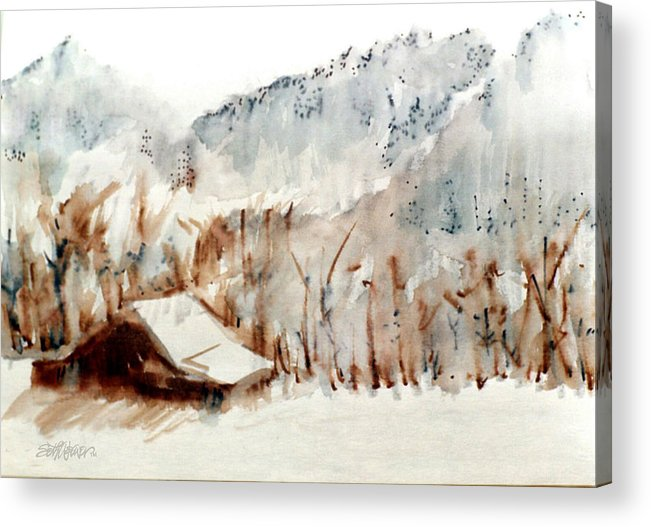 Cold Cove Acrylic Print featuring the mixed media Cold Cove by Seth Weaver