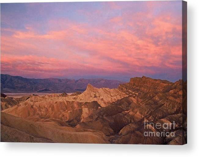 Death Valley Acrylic Print featuring the photograph Colorful Mountains by Sven Brogren