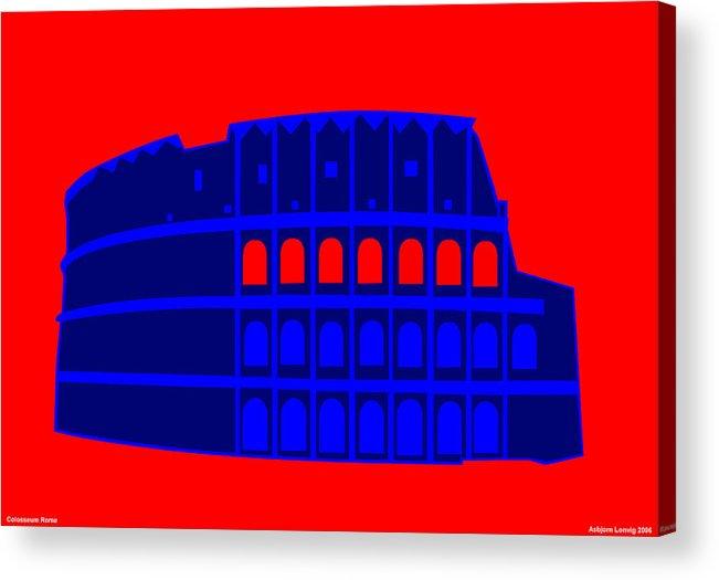 Colosseum Acrylic Print featuring the digital art Colosseum by Asbjorn Lonvig