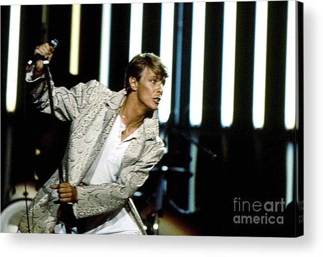 David Bowie Acrylic Print featuring the photograph David Bowie Action Man by Sue Halstenberg