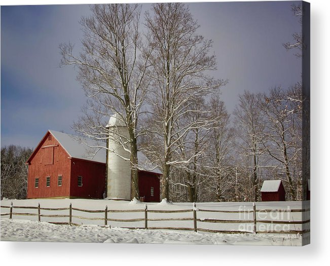 Red Barns Acrylic Print featuring the photograph Deerfield Red Barn by Diana Nault