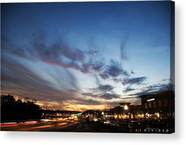 Sky Acrylic Print featuring the photograph Divided by Jonathan Ellis Keys